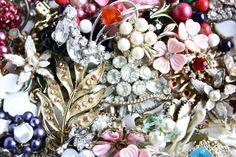 Vintage BROKEN Jewelry Lot  Earrings Pins for Repair & Crafting by MaejeanVINTAGE, $25.00