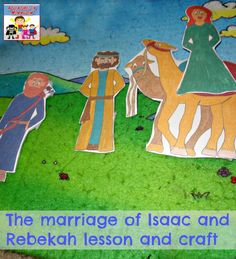 I love the story of Isaac takes a wife, how it's love at first sight and the kids love acting it out with these popsicle stick figures