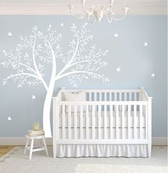 Items similar to Hot Sale Tree Wall Murals Living Room Wall Decals Office Tree Decals Nature Trees Decal--Set of 4 big birch trees H) on Etsy Nursery Twins, Baby Boy Nurseries, Nursery Room, Neutral Nurseries, Nursery Wall Decals, Vinyl Wall Decals, Sticker Mural, Wall Stickers, Wall Murals