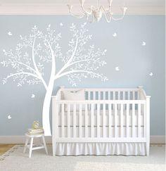 Children's Tree Decal - Vinyl Wall Decals - nursery decals with Butterflies & TREE