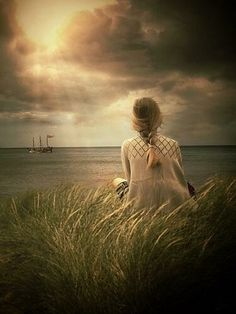 what pleasant visions haunt me As I gaze upon the sea! All the old romantic legends, All my dreams, come back to me.
