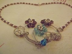 'Floral  Bouquet Necklace' is going up for auction at  3pm Thu, Apr 11 with a starting bid of $8.