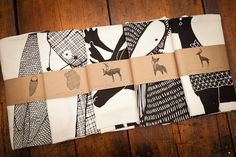 Screen Printed Animal Tea Towels by Gingiber for BourbonandBoots.com