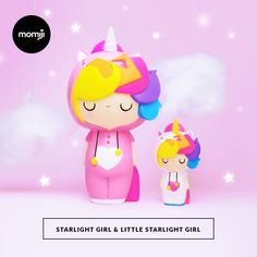 Meet Starlight Girl & Little Starlight Girl! STARLIGHT GIRL is our Big Ideas Doll for 2016 She's 18cm tall! We wanted to create Momiji that stood for being YOU, embracing everything that makes you UNIQUE. Just 500 Limited Edition Pieces in the whole world. The first 300 pieces of Little Starlight Girl are hand-numbered. Live a magical life, because your sparkle is special.