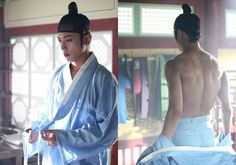 """CNBLUE Jung Yong Hwa Is Bringing """"Sexy Back"""" In Stills From 'The Three Musketeers' http://www.kpopstarz.com/articles/104450/20140816/cnblues-jung-yong-hwa-looks-hot-even-with-his-back-stills-on-the-three-musketeers.htm"""