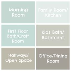 Seaside Interiors: The Paint Colors of My House. Hmm..haven't picked out a paint colour for my ...morning room?