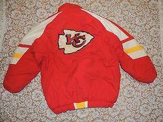 Vintage 2XL Kansas City Chiefs NFL Pro Line Authentic Starter Coat jacket