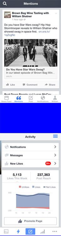 William Shatnew Reviews Facebook Mentions App