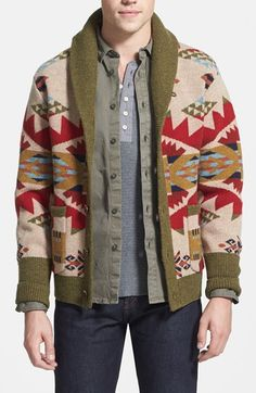 Pendleton 'Journey West' Pattern Lambswool Shawl Cardigan available at #Nordstrom