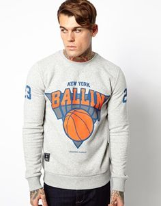 Image 1 ofCriminal Damage Sweatshirt with Ballin' Print