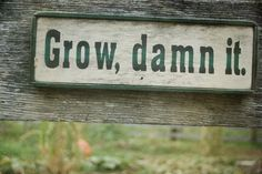 Sign for the garden.