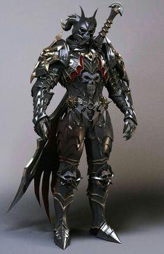 Fighter Knight in Armor - Pathfinder PFRPG DND D&D d20 fantasy