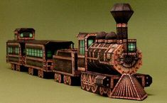 Halloween Special - The Ghost Train Paper Model - by Ray O`Bannon   - Ray created a very well done tutorial full of photos for those who want to build this really cool model.
