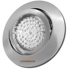 8x LED Deckenstrahler Einbaustrahler Timo 230Volt + 3Watt Leuchtmittel. Schwenkbare Ausführung.