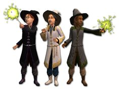 Three wizard costumes for kids with matching hat accessories. All Hairstyles, Different Hairstyles, My Sims, Sims Cc, Wizard Costume For Kids, Supernatural Witch, Wizard Robes, Witch Outfit, Sims 4 Mods