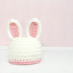 Crochet Bunny Hat Photo Prop Rabbit Beanie Pick by MySweetieBean. $24.95, via Etsy.  *o* SO FREAKING CUTE