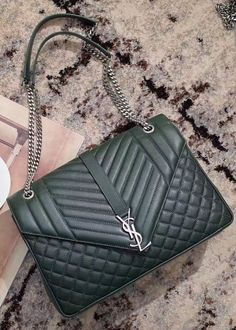 The Classic Large Soft Envelope bag is a bit different than other products made by YSL brand. View details at https://www.luxtime.su/saint-laurent-classic-large-soft-envelope-ysl440115b-green