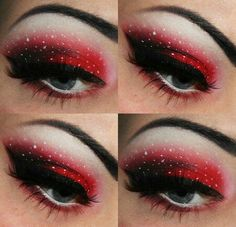 Red and Black Eyeshadow