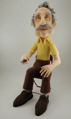 Frank - a needle felted sculpture from Terese Cato