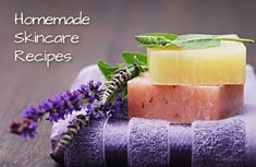 Recipes for a homemade body wash, moisturizer, face wash & more--all natural, no chemicals! | via @SparkPeople