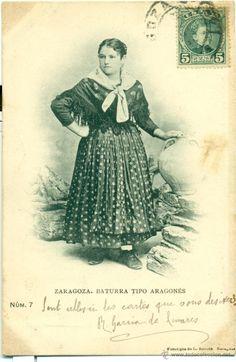 ZARAGOZA. BATURRA. TIPO ARAGONÉS. CIRCULADA EN 1903. FOTO ESCOLÁ. (Postales - España - Aragón Antigua (hasta 1939) - Zaragoza)