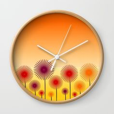 A colorful #wall #clock that will add color to any #room of your #house #homedecor #society6