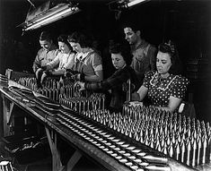 This picture shows women working in a munitions factory during the second world war. Women played a major role in the war effort as a labour force was needed to compensate for all the men that had gone to fight in the war. Women working in factories changed the way the world viewed them in society and helped take a step forward in showing how competent they were at working in places other than around the home.