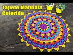 Tapete de Crochê Mandala Colorida Parte 1 - Simone Eleotério - YouTube Mais