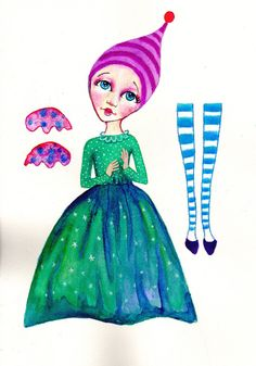Paper doll kits. A fairy to buy and make at home. by PlaynJaneheartist on Etsy