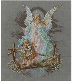 Guardian Angel Cntd X-Stitch Kit-7-1/2''x9-7/8'' & counted cross stitch kits at Joann.com