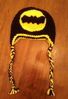 Butterfly's Creations: Batman Logo Beanies. FREE pattern for all sizes!