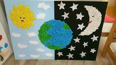 Preschool Decor, Preschool Art Activities, Space Activities, Diy Crafts For Kids, Art For Kids, Arts And Crafts, Nursing Home Crafts, School Essentials, Classroom Crafts