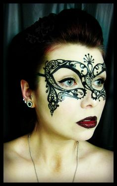 Venetian mask Painting by CrystalEffinOverland  This is amazing!