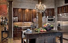 I wonder if Gerard Butler actually cooks in this kitchen? kitchens-i-want