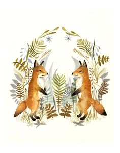 Fox with mittens on? Brush and pine designs are welcome!