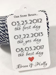 Our Story Begins, Our Love Story, Every Love Story, Favor Tags, Personalized Tags, Wedding Favor Tags, Thank you Tags, Set of 18