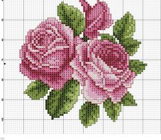 This Pin was discovered by ilk Cross Stitching, Cross Stitch Embroidery, Hand Embroidery, Cross Stitch Rose, Cross Stitch Flowers, Embroidery Patterns, Cross Stitch Patterns, Stitch Cartoon, Beaded Cross