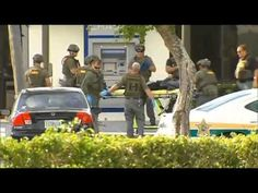 LIVE VIDEO OF BANK ROBBER WITH A BOMB TAKE DOWN IN DANIA BEACH.( RAW FOO...