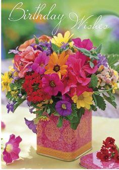 bright beautiful flowers fir a bright beautiful friend ???!!...   have a happy happy monday !!!...    ooooooooo     : c )