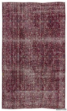 K0017368 Over-dyed Turkish Vintage Rug | Kilim Rugs, Overdyed Vintage Rugs, Hand-made Turkish Rugs, Patchwork Carpets by Kilim.com