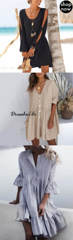 500 women fashion trendy shift dress maxi dress vacation beach dress on sale now! Sewing Dresses For Women, Sewing Clothes Women, Trendy Dresses, Summer Dresses, Clothes For Women, Summer Clothes, Simple Dresses, Holiday Fashion, Holiday Outfits