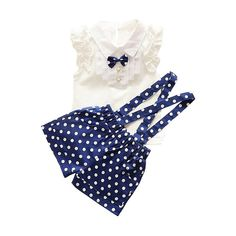 2-piece Ruffled Sleeveless Top and Strap Pants for Baby Girl/Girl