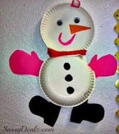 Sempre criança:  http://www.craftymorning.com/diy-snowmen-paper-pl...