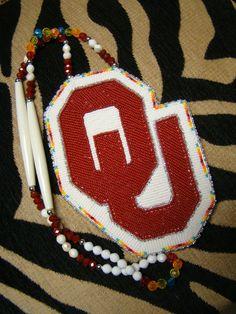 Native American Beaded Medallions | University of Oklahoma Medallion Beaded Native American Made