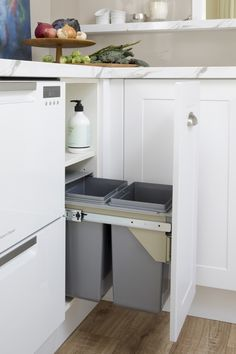Concealing your waste bin is a great way to keep your kitchen looking neat and t… Concealing your waste bin is a great way to keep your kitchen looking neat and tidy, as well as controlling odours. Kaboodle have a wide range of klitchen waste bins, head o Kitchen Reno, Kitchen Dining, Kitchen Ideas, Diy Kitchen Storage, Neat And Tidy, Home Kitchens, Pantry, Range, Beach Houses