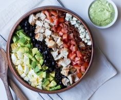 Cobb salad, paleo style with a creamy avocado dressing.