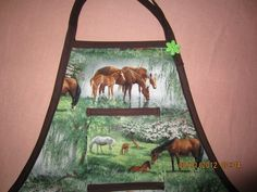 Horse Themed Apron Special deco & stitching Order Tiday
