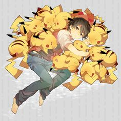 Red with Pikachus :3