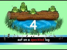 This is a very cute song that can easily be sung and goes with the printable frog/log page.