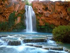On the Havasupai Indian Reservation within Grand Canyon National Park in Arizona you will find the gorgeous Havasu Falls.